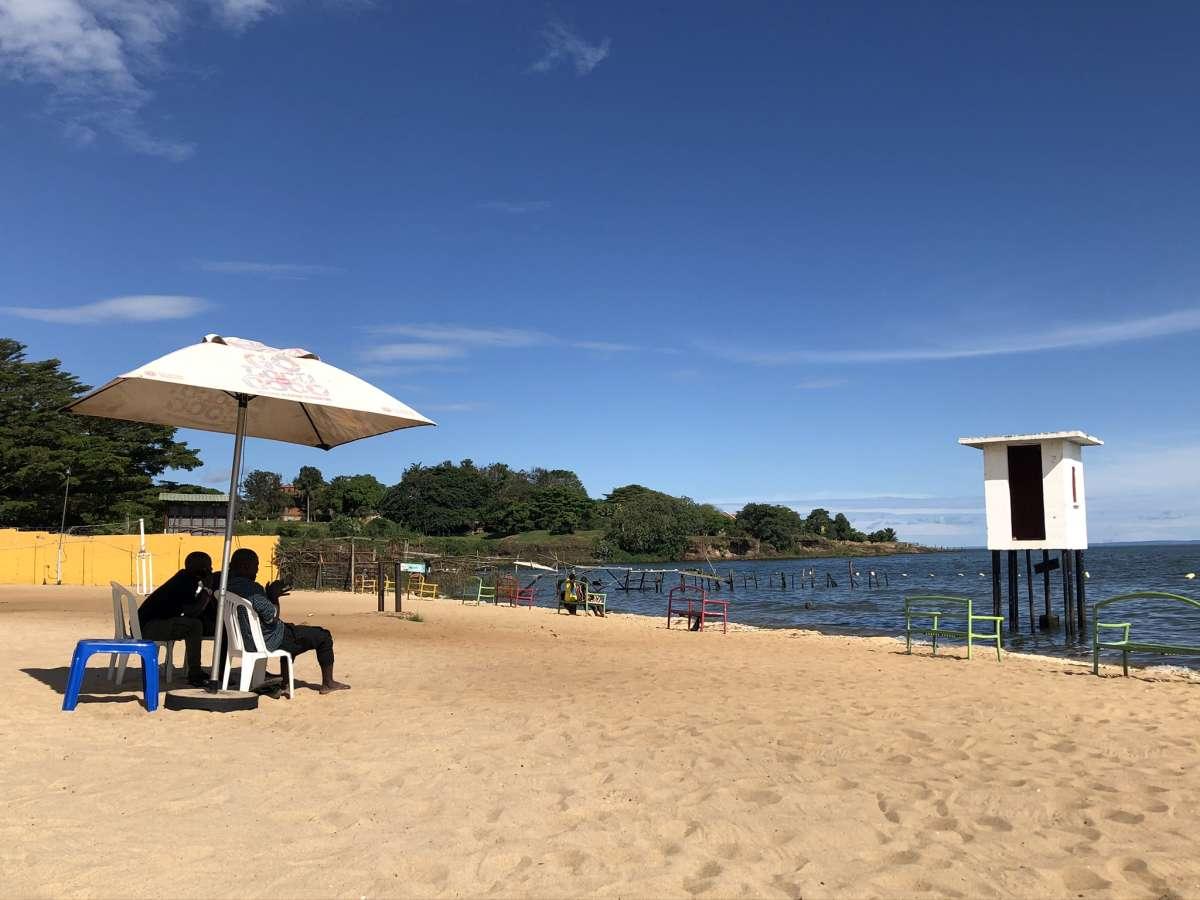 Spennah Beach Entebbe am Victoriasee in Uganda