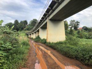 Brücke in Jinja Uganda