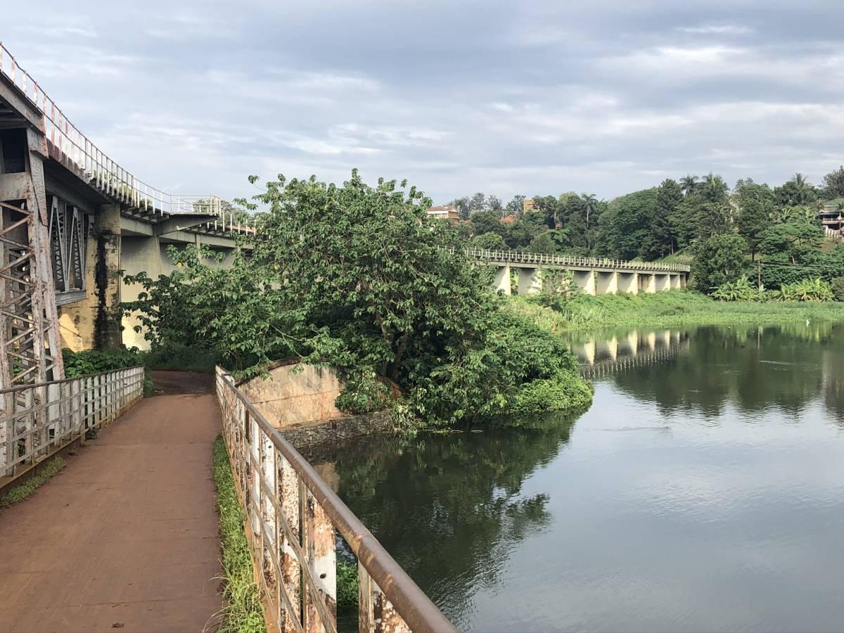 Jinja Nile old railrad bridge
