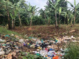 Müll am Straßenrand in Jinja Uganda