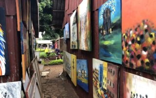 Art market at the Kampala National Theater