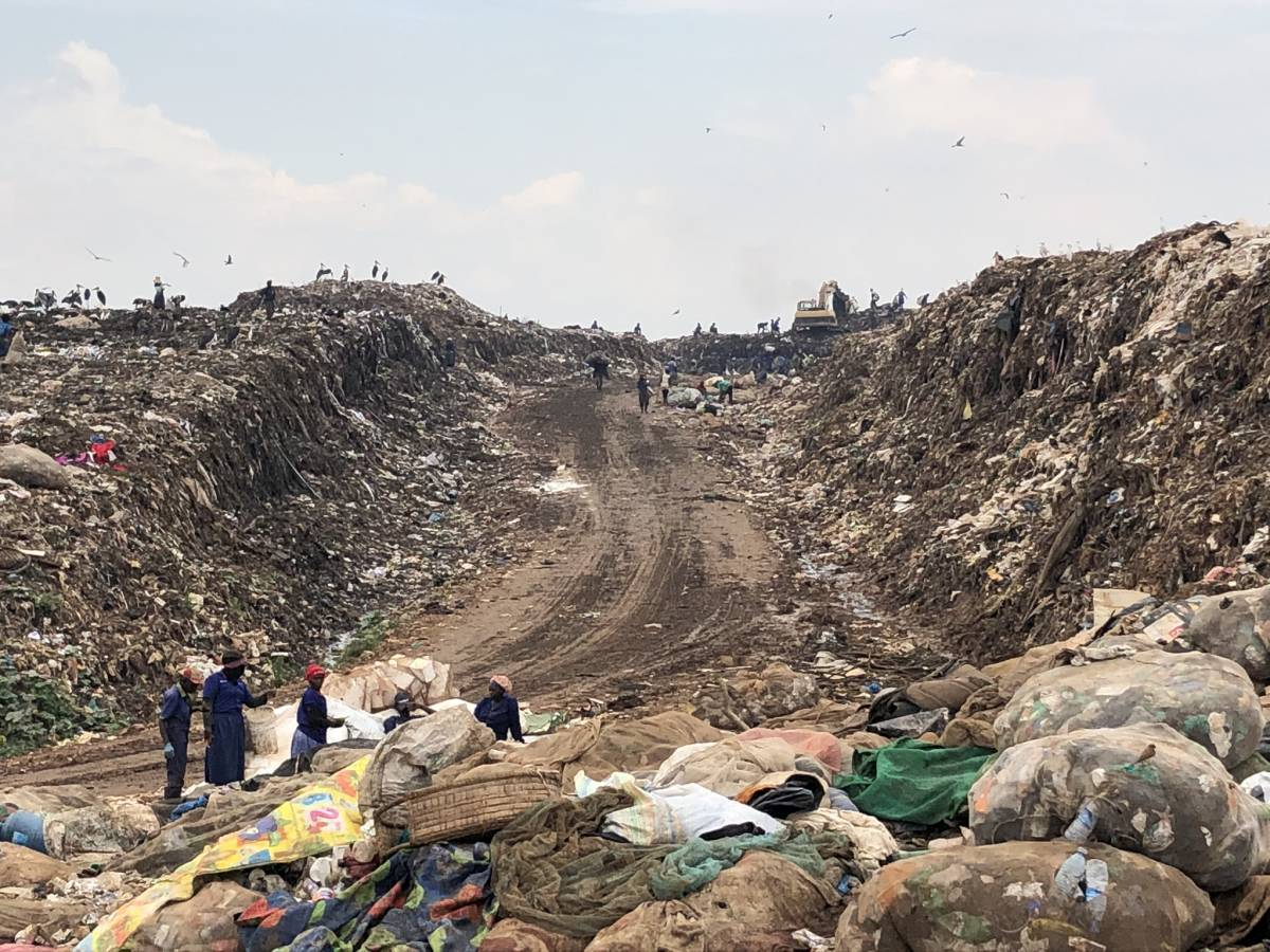 Kampala Afrika Mülldeponie Kiteezi