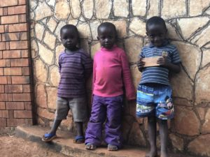 3 Kinder in Kazo Kawempe