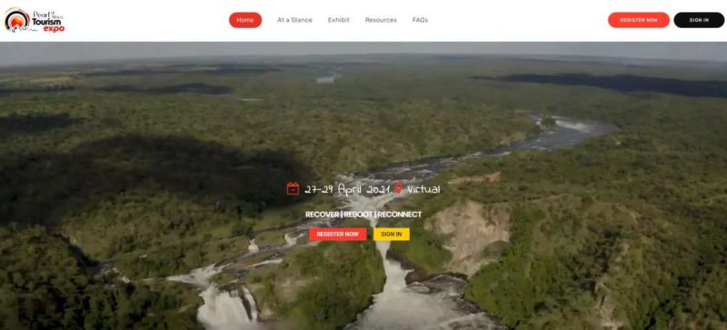 Website Pearl of Africa Tourism Expo 2021