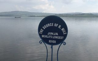 The Source of River Nile in Jinja information sign